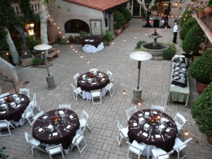 Set up on the Patio de las Campanas by Heartline Cafe