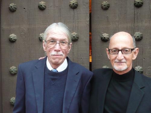 Tlaquepaque custodian Kenneth Gordon (left) with Rev. Andrew Murphy, Heart of Sedona Weddings